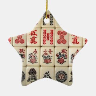 Ornement Étoile En Céramique Tuiles de Mahjong