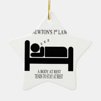 Ornement Étoile En Céramique Un corps tend au repos à rester au repos la loi de