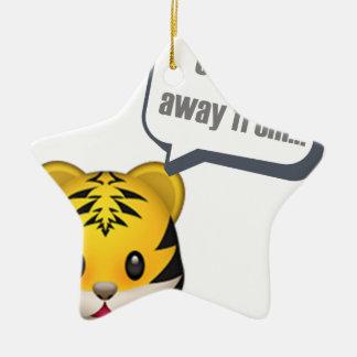 Ornement Étoile En Céramique un zoo à partir - d'Emoji