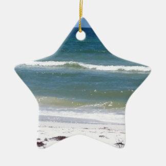 Ornement Étoile En Céramique Une promenade sur la plage