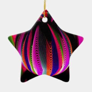 Ornement Étoile En Céramique Variation de couleurs dans le verre