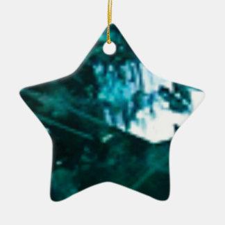Ornement Étoile En Céramique verre vert brisé