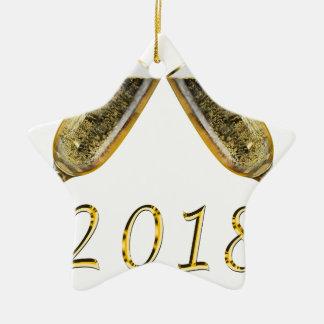 Ornement Étoile En Céramique Verres 2018 de Champagne
