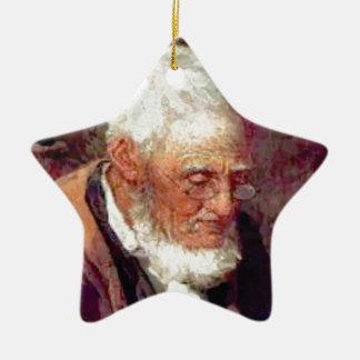 Ornement Étoile En Céramique Vieil homme avec la barbe