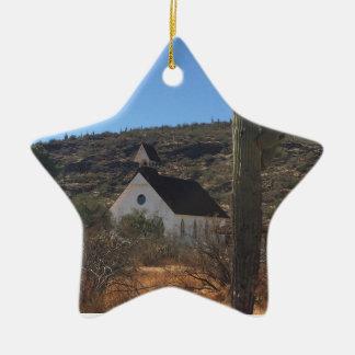 Ornement Étoile En Céramique Vieille église occidentale