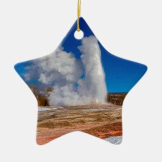 Ornement Étoile En Céramique Vieux fidèle de Yellowstone