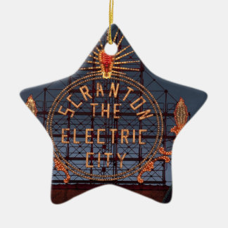 Ornement Étoile En Céramique Ville électrique de Scranton