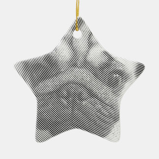 Ornement Étoile En Céramique Visage de carlin