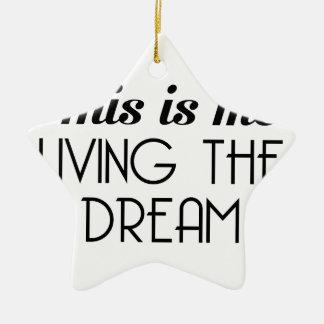Ornement Étoile En Céramique Vivant le rêve