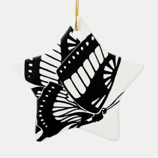Ornement Étoile En Céramique Vol de papillon dans le vent