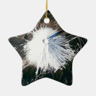 Ornement Étoile En Céramique vue aérienne du mont Fuji