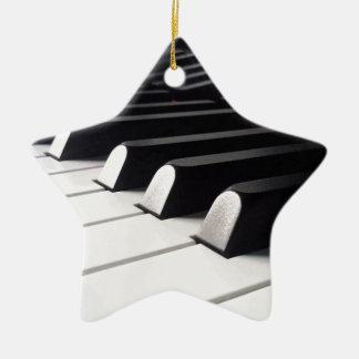Ornement Étoile En Céramique Vue de piano