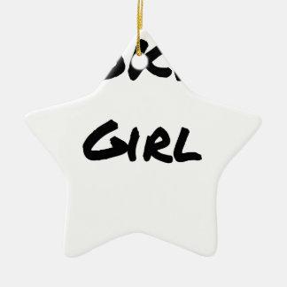 Ornement Étoile En Céramique WOKING GIRL - Jeux de mots - Francois Ville