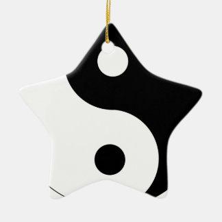 Ornement Étoile En Céramique yin-Yang
