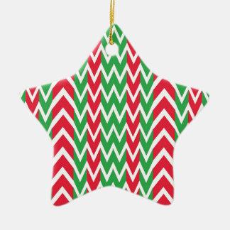 Ornement Étoile En Céramique Zigzag de houblon de vacances de pavot