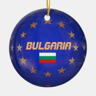 Ornement européen de Noël de cercle de la Bulgarie