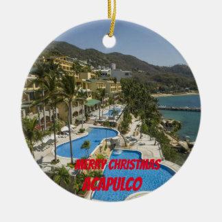 Ornement fait sur commande de Noël d'Acapulco