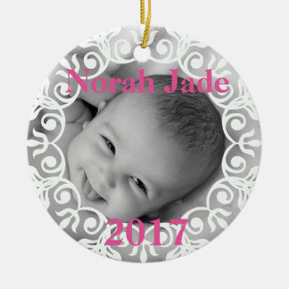 Ornement fait sur commande de photo de bébé et de