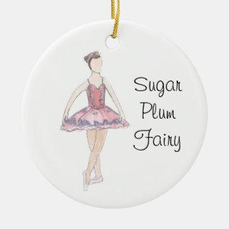 Ornement féerique de souvenir de prune de sucre de