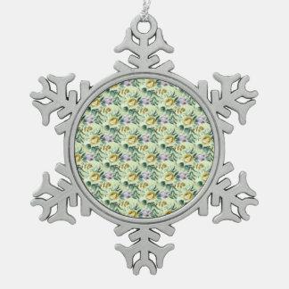 Ornement Flocon De Neige 218B floral mignon