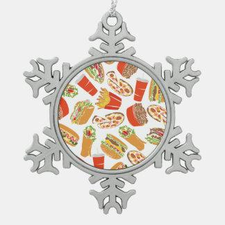 Ornement Flocon De Neige Aliments de préparation rapide d'illustration
