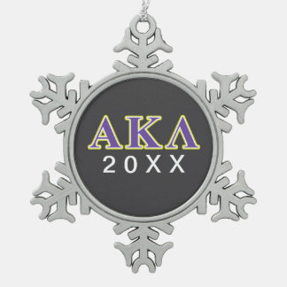 Ornement Flocon De Neige Alpha lettres de pourpre du Kappa lambda