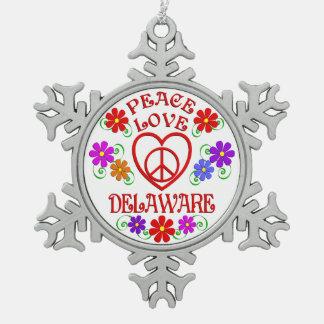 Ornement Flocon De Neige Amour Delaware de paix