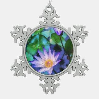 Ornement Flocon De Neige Aquarelle pourpre de Lotus