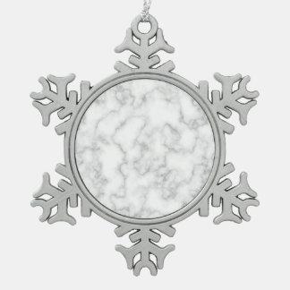 Ornement Flocon De Neige Arrière - plan marbré de motif de pierre de marbre