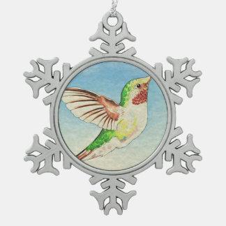Ornement Flocon De Neige Art de bleu de colibri
