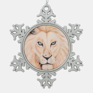 Ornement Flocon De Neige Art fort d'huile de portrait de lion