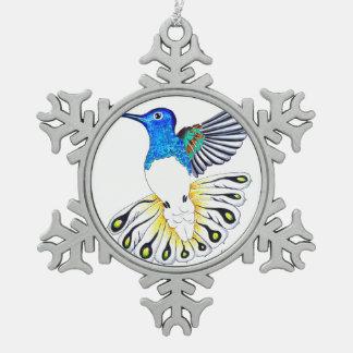 Ornement Flocon De Neige Art mignon de colibri