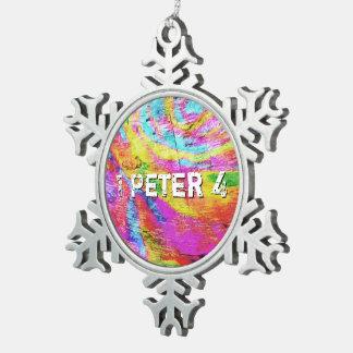 Ornement Flocon De Neige Au-dessus de 1 Peter 4