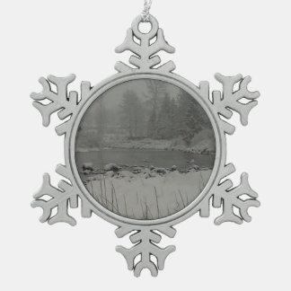Ornement Flocon De Neige Aube de Milou sur la rivière de Tilton
