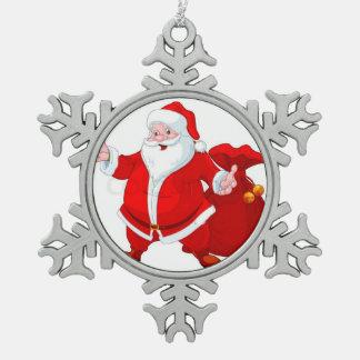 Ornement Flocon De Neige babiole de père Noël