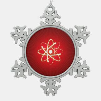 Ornement Flocon De Neige Ballot d'atome de lueur