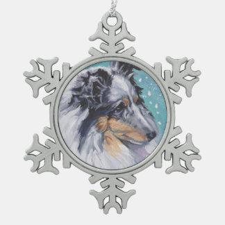 Ornement Flocon De Neige Beaux beaux-arts de chien de berger de Sheltie
