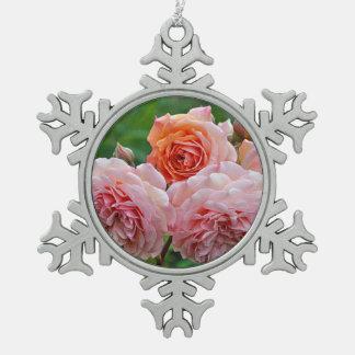 Ornement Flocon De Neige Beaux roses roses