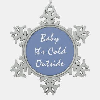Ornement Flocon De Neige Bébé d'ornement de flocon de neige d'étain 'c'est