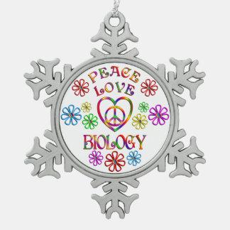 Ornement Flocon De Neige Biologie d'amour de paix