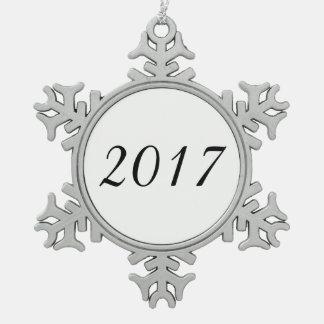Ornement Flocon De Neige Blanc personnalisable fait sur commande de 2017