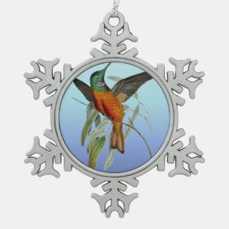 Ornement Flocon De Neige Bleu de colibri