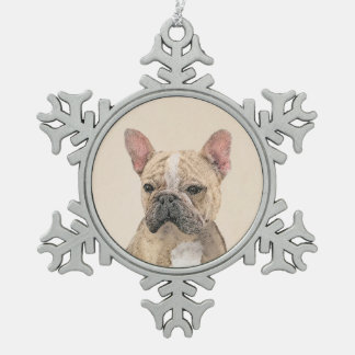 Ornement Flocon De Neige Bouledogue français (sable)