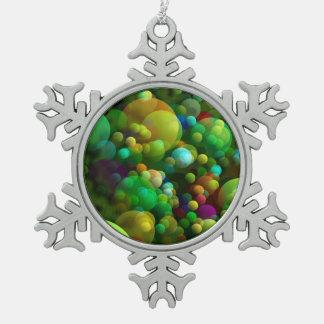 Ornement Flocon De Neige Bulles verdâtres