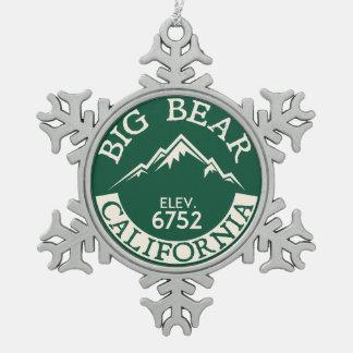 Ornement Flocon De Neige Canotage de ski de la Californie de lac big Bear