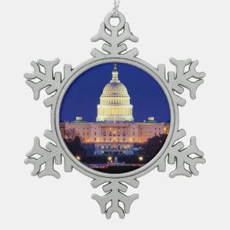 Ornement Flocon De Neige Capitol des Etats-Unis de Washington DC au