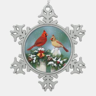 Ornement Flocon De Neige Cardinaux de vacances et guirlande de Noël