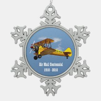 Ornement Flocon De Neige Centennial historique de service de messagerie