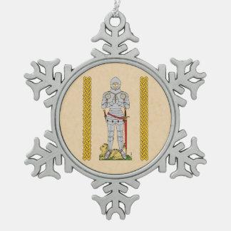 Ornement Flocon De Neige Chevalier anglais, Circa 1430