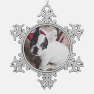 Ornement Flocon De Neige Chien fait sur commande de Noël d'animal familier